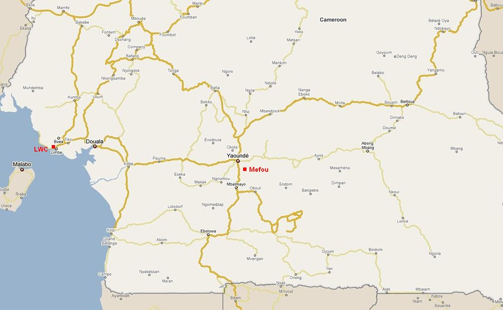 Cameroon Map (c) Footiemap.com