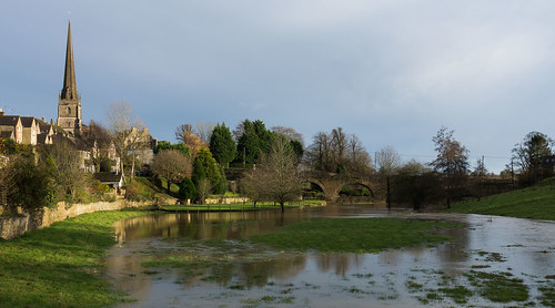 Bath Bridge and the Church - Tetbury
