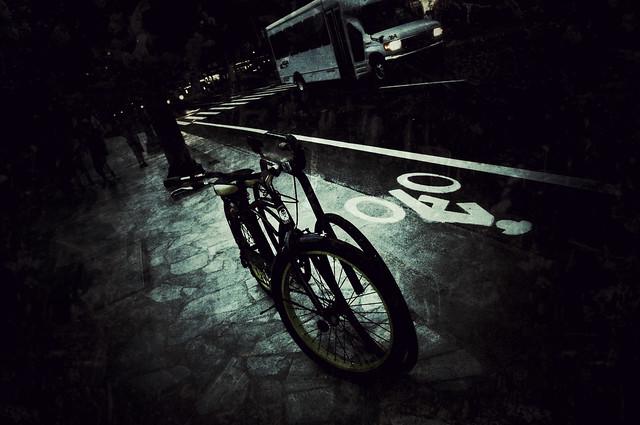 street, before sun goes down