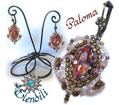 Pendientes Paloma de Biloba by **Elendili**