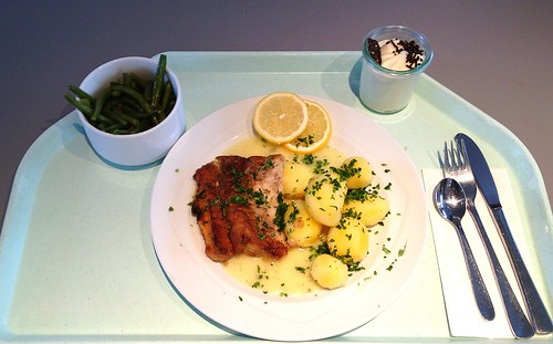 Welsfilet in Meerrettichsauce
