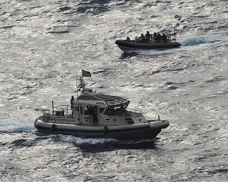 Royal Navy with Albanian Naval Forces Patrol Boat