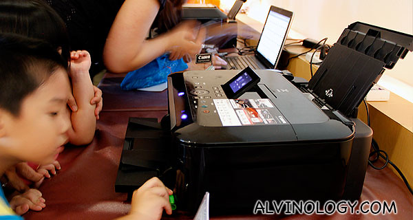 Even children were able to use the Canon PIXMA for printing on their own