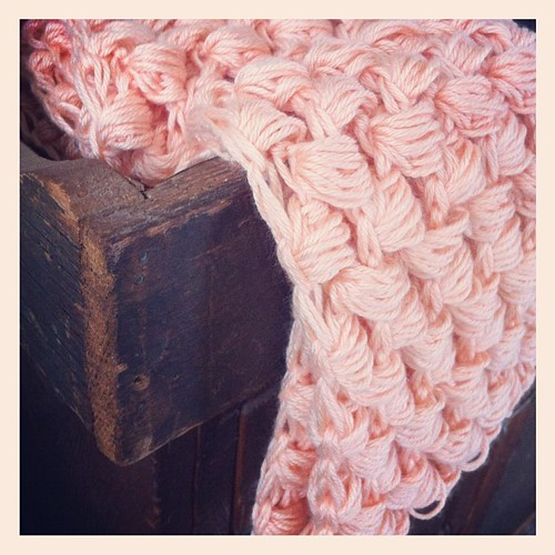 Yummy puff stitch scarf!