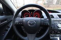 automobile, wheel, vehicle, mazda, mazda3, steering wheel, land vehicle, luxury vehicle,