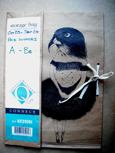 Storage Bag Sparrowhawk Ballerina by The People In My Head