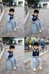 タコ公園にてすわる (2012/11/25)