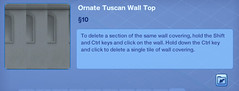 Ornate Tuscan Wall Top