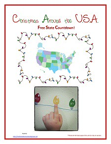 Christmas Across the USA (Photo from Enchanted Homeschooling Mom)