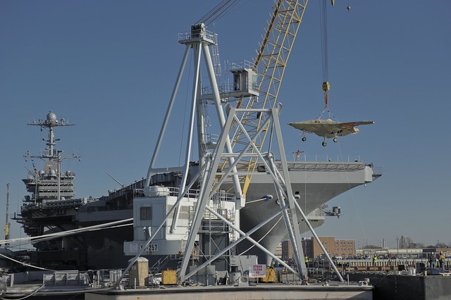 The X-47B Unmanned Combat Air System demonstrator is ...