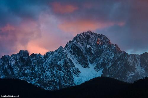 autumn winter sunset mountain fall clouds colorado 14er ridgway sanjuanmountains mtsneffels mountsneffels