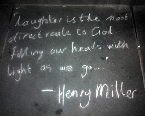 Henry Miller chalkage