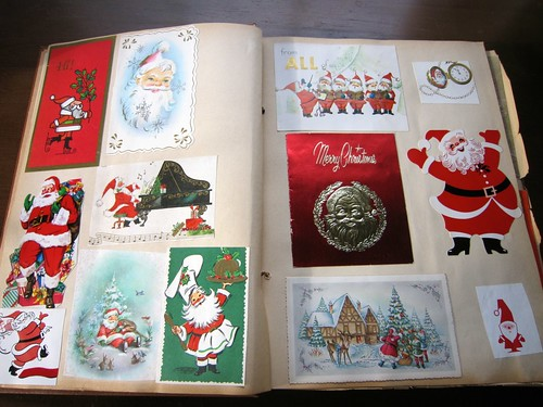 Vintage Christmas Cards Scrapbook 1 / 3