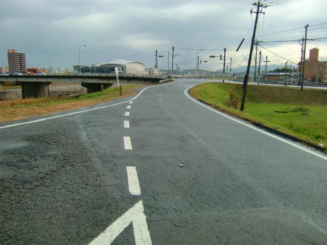 旧長崎街道との合流地点