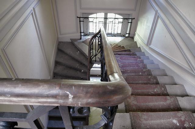 Escaleras desgastadas