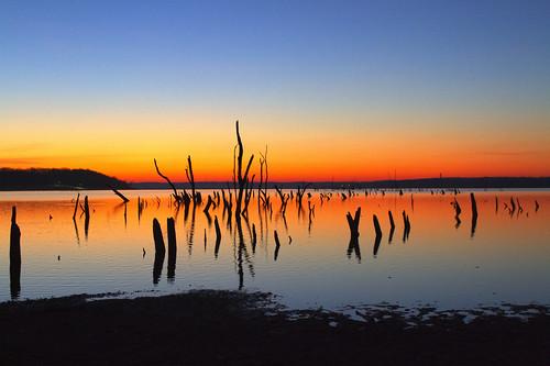 [フリー画像素材] 自然風景, 河川・湖, 朝焼け・夕焼け, 風景 - アメリカ合衆国 ID:201212061600