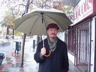 Hubby in the rain