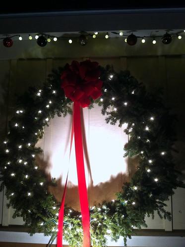 WPIR - lit wreath