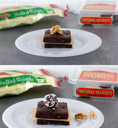 Raw Brownies Bars/Bites