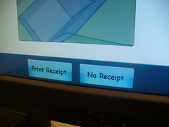 Screen shot of the self check machine