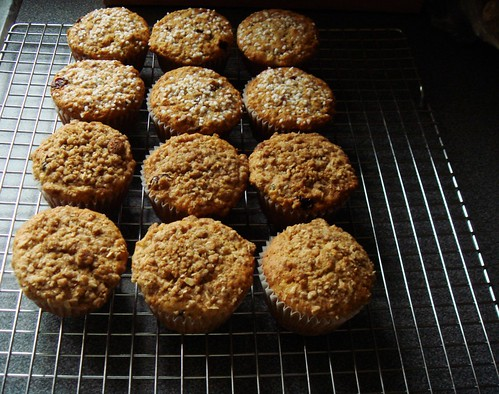 Browned Butter Oatmeal Cranberry Muffin