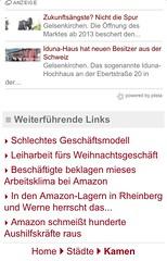 altes Mobilportal m.derwesten.de: Artikelende