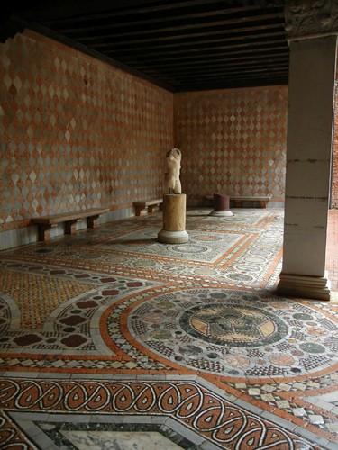 DSCN2107 _ Mosaic courtyard, Ca d'Oro, Venezia, 14 October
