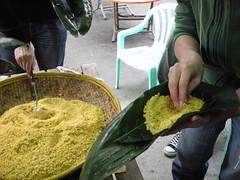不同品種小米各有用途,如用小米製作祈納福。