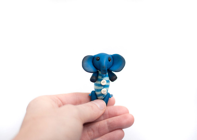 tiny blue elephant