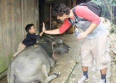 Me, Little Dude, and Water Buffalo