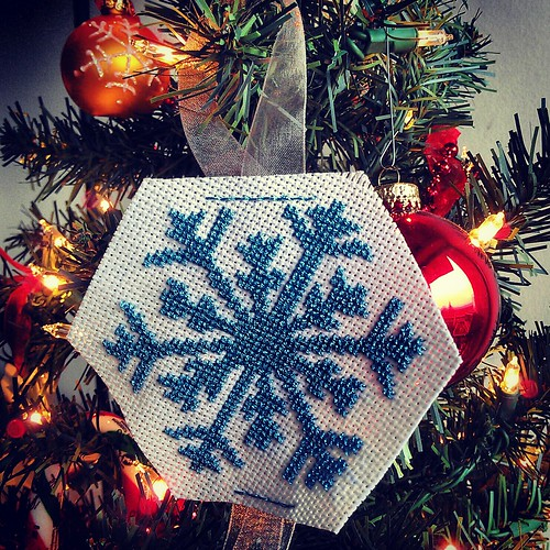 Snowflake Ornament finish