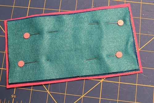 fussy-cut felt needle book