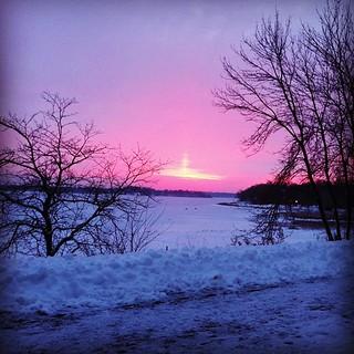 Wicked winter sunrise