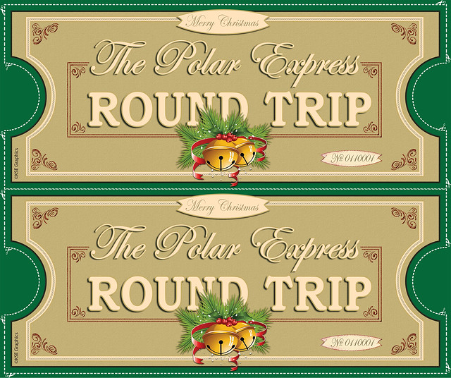 Polar Express tickets FRONT 2up GREEN | Flickr - Photo Sharing!