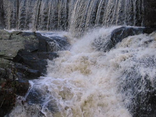 Southford Falls falls by Coyoty