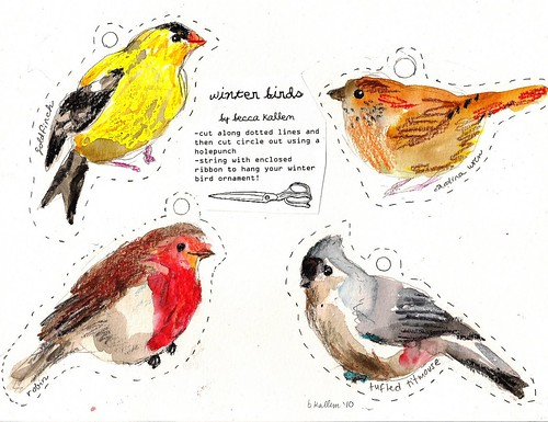 Winter Bird Printables