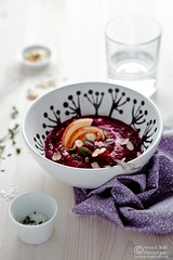 Roasted Beet Parsnip Apple Soup by Meeta K. Wolff