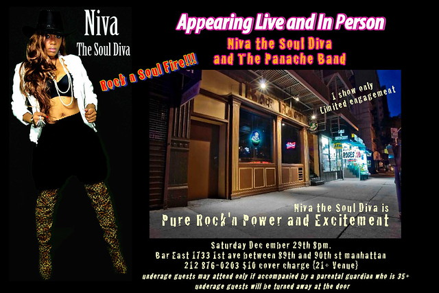 Niva the Soul Diva bar east poster