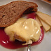 Vacherin, pear, red wine and apple puree