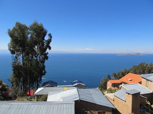 Lac Titicaca: vue depuis notre chambre à l'Isla del Sol