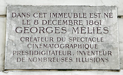 Photo of Georges Méliès marble plaque
