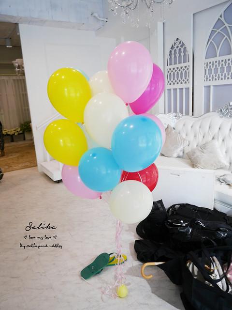 拍婚紗空飄會飛氣球