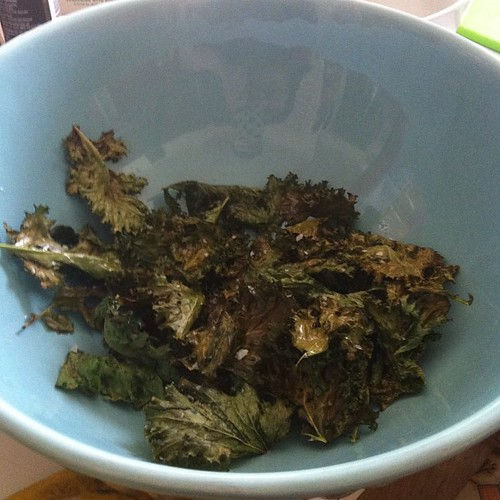 Making some more delicious salt and vinegar kale chips! #urbanfarm