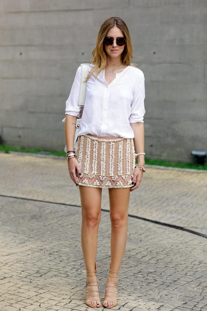 Brazil Diary Shell Skirt The Blonde Salad