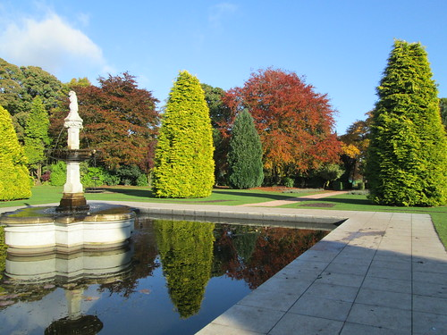 Beveridge Park fountain & trees 1
