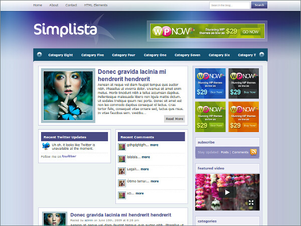 Simplista Free WordPress Theme