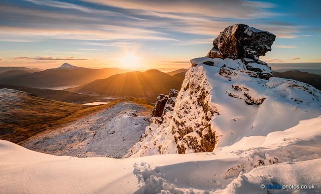 Sunrise on The Cobbler [IMG_3123_4_5_fused]