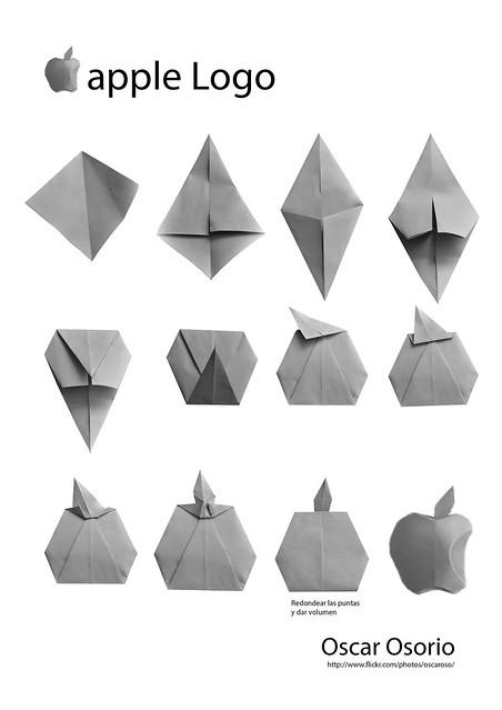 manzana apple origami apple wwwflickrcomphotos