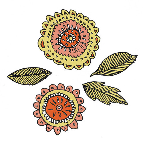 Flower doodle.