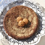Torta Monferina with pumpkin and amaretti cookies